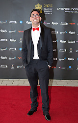 LIVERPOOL, ENGLAND - Tuesday, May 6, 2014: Radio broadcaster Colin Murray arrives on the red carpet for the Liverpool FC Players' Awards Dinner 2014 at the Liverpool Arena. (Pic by David Rawcliffe/Propaganda)
