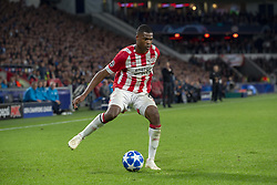 October 4, 2018 - Eindhoven, Netherlands - Denzel Dumfries of PSV controls the ball during the UEFA Champions League Group B match between PSV Eindhoven and FC Internazionale Milano at Philips Stadium in Eindhoven, Holland on October 3, 2018  (Credit Image: © Andrew Surma/NurPhoto/ZUMA Press)