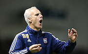 Ipswich Town manager Mick McCarthy during the Sky Bet Championship match between Brighton and Hove Albion and Ipswich Town at the American Express Community Stadium, Brighton and Hove, England on 29 December 2015.