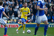 Leeds United defender Pontus Jansson (18)  during the EFL Sky Bet Championship match between Birmingham City and Leeds United at St Andrews, Birmingham, England on 6 April 2019.