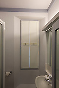 Washroom to quod with shutters closed