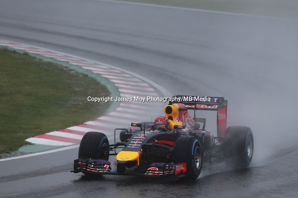 Sebastian Vettel (GER) Red Bull Racing RB10.<br /> Japanese Grand Prix, Sunday 5th October 2014. Suzuka, Japan.