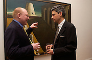 Michael Taylor ( curated exhibition)  and Matthew Gale ( wrote catalogue) ,Giorgio de Chirico and the Myth of Ariadne, Estorick Collection, London. 21 January 2003. © Copyright Photograph by Dafydd Jones 66 Stockwell Park Rd. London SW9 0DA Tel 020 7733 0108 www.dafjones.com