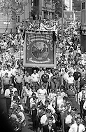 Kellingley Colliery Banner, 1984 Yorkshire Miner's Gala. Wakefield.