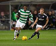 20th September 2017, Dens Park, Dundee, Scotland; Scottish League Cup Quarter-final, Dundee v Celtic; Celtic's  Olivier Ntcham and Dundee's A-Jay Leitch-Smith