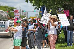 June 26, 2017 - Doral, FL, USA - Over 100 protesters rally outside of Senator Marco Rubio's office, protesting the Republican vote on Healthcare on Monday, June 26, 2017 in Doral, Fla. (Credit Image: © C.M. Guerrero/TNS via ZUMA Wire)