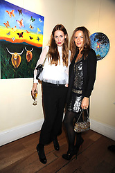 Left to right, MARY FELLOWES and JESSICA SIMON at an exhibition of Sarah-Jane Boler's paintings entitled 'Life on The Farm' held at The Troubadour, 265 Old Brompton Road, London on 27th November 2008.