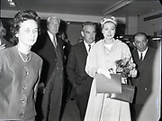 Prince Rainier and Princess Grace visit Ireland. Meeting the Lord Mayor of Dublin, Maurice Dockrell, Senator Edward McGuire, at a reception in the Mansion House, where they presented £700 to various charities..12.06.1961
