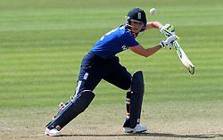 England's Charlotte Edwards cuts the ball. - Photo mandatory by-line: Harry Trump/JMP - Mobile: 07966 386802 - 21/07/15 - SPORT - CRICKET - Women's Ashes - Royal London ODI - England Women v Australia Women - The County Ground, Taunton, England.