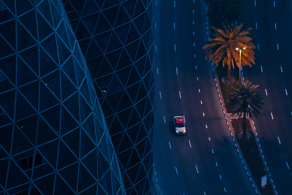 Recipe - A pinch of warm tones mixed with a lot of blue - garnished with composition balancing lines and curves. <br />