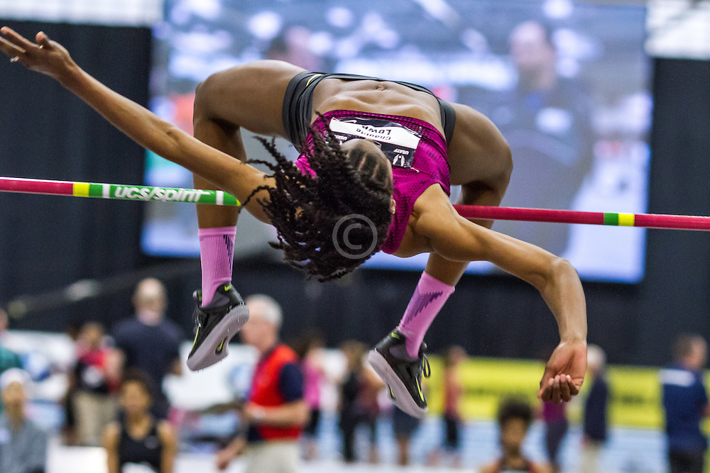 USATF Indoor Track & Field Championships: womens high jump, Chaunte Lowe, Nike