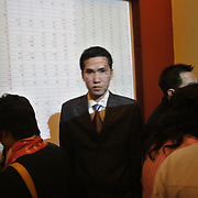 Traders on the floor at SSI (Saigon Securities Inc.) in Hanoi. SSI is one of the largest stock brokerage firms in Vietnam, where trading stocks has become so popular the brokerage has to move into a new, much larger floorspace later this year to accomodate the rush to buy and sell on Vietnam's opening market.