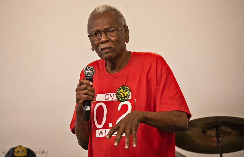 Robert Taylor at a Concerned Citizens of St. John The Baptist Parish Meetin in Feb. 2, 2020.