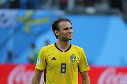 July 3, 2018 - Russia - July 03, 2018, St. Petersburg, FIFA World Cup 2018 Football, the playoff round. Football match of Sweden - Switzerland at the stadium of St. Petersburg. Player of the national team..Olbin Indal. (Credit Image: © Russian Look via ZUMA Wire)