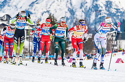 24.02.2019, Langlauf Arena, Seefeld, AUT, FIS Weltmeisterschaften Ski Nordisch, Seefeld 2019, Langlauf, Damen, Teambewerb, im Bild v.l. Anamarija Lampic (SLO), Sandra Ringwald (GER), Maiken Caspersen Falla (NOR), Maja Dahlqvist (SWE) // f.l. Anamarija Lampic of Slovenia Sandra Ringwald of Germany Maiken Caspersen Falla of Norway and Maja Dahlqvist of Sweden during the ladie's cross country team competition of FIS Nordic Ski World Championships 2019 at the Langlauf Arena in Seefeld, Austria on 2019/02/24. EXPA Pictures © 2019, PhotoCredit: EXPA/ Stefan Adelsberger