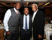 ATLANTA, GA - MAY 14:  Philadelphia Philles first baseman Ryan Howard (left), shortstop Jimmy Rollins (center) and Hall of Famer Frank Robinson attend the MLB Beacon Awards Banquet at the Omni Hotel on May 14, 2011 in Atlanta, Georgia.  (Photo by Mike Zarrilli/Getty Images)
