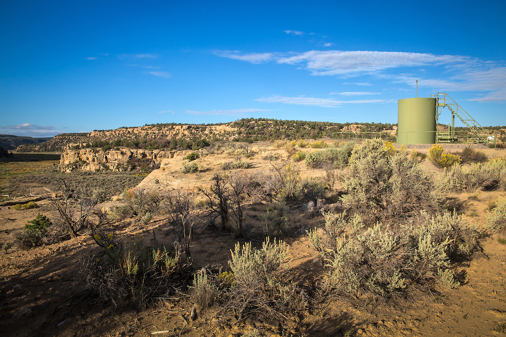 A well site at the Schreiber's Devil Springs Ranch in Blanco, New Mexico. <br />