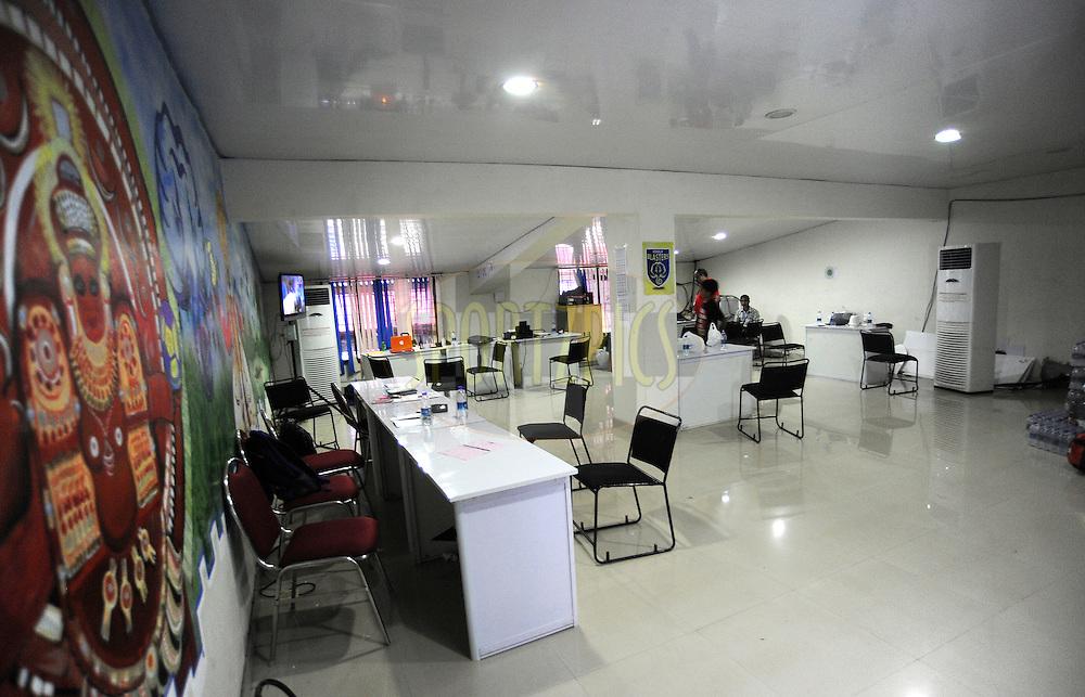 Club Office during match 34 of the Indian Super League (ISL) season 2 between Kerala Blasters FC and AtlŽtico de Kolkata held at the Jawaharlal Nehru Stadium, Kochi, India on the 10th November 2015.<br /> <br /> Photo by Pal Pillai / ISL/ SPORTZPICS