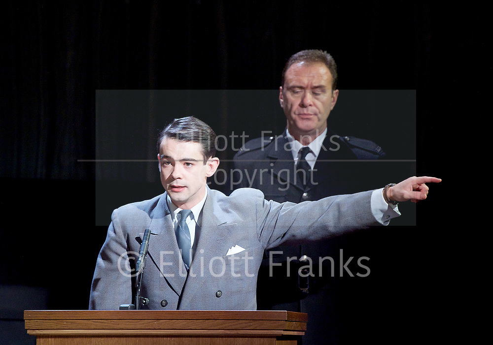 Witness for the Prosecution by Agatha Christie <br /> at London County Hall, Southbank, London, Great Britain <br /> press photocall <br /> 20th October 2017 <br /> <br /> directed by Lucy Bailey <br /> <br /> Leonard Vole as Jack Mullen <br /> <br /> <br /> <br /> <br /> <br /> <br /> Photograph by Elliott Franks <br /> Image licensed to Elliott Franks Photography Services