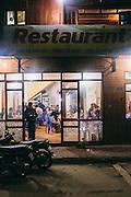Restaurant at night, Bac Ha, Vietnam