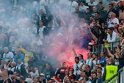 26.07.2017, Red Bull Arena, Salzburg, AUT, UEFA CL, FC Salzburg vs HNK Rijeka, Qualifikation, 3. Runde, Hinspiel, im Bild Rijeka Fans jubeln // during the UEFA Championsleague Qualifier 3rd round, 1st leg match between FC Salzburg and HNK Rijeka at the Red Bull Arena in Salzburg, Austria on 2017/07/26. EXPA Pictures © 2017, PhotoCredit: EXPA/ JFK