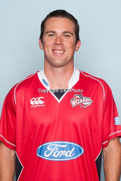 Todd Astle, Canterbury Wizards headshots for the 2012/2013 season. New Zealand domestic cricket. Photo: Canterbury Cricket