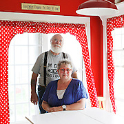 Gene and Judy Mierzwa in their Peotone, Ill. home Tuesday, April 3, 2012. The Mierzwas designed and built their home six years ago, but are afraid they could lose it as it is now in the path of the proposed Illiana Expressway.