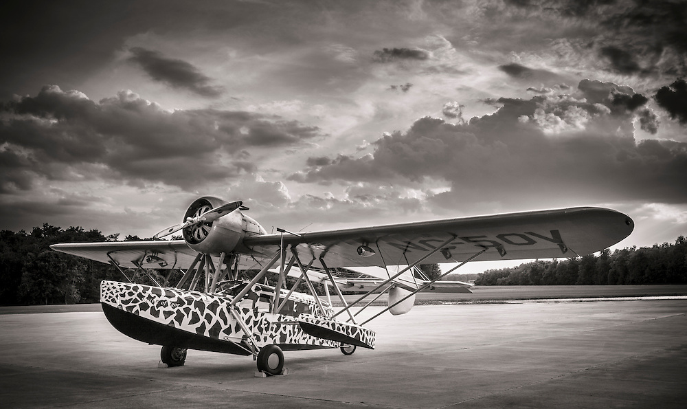 Sikorsky S-39.  The paint scheme pattern was modeled after a real giraffe.  Created at Kermit Week's Fantasy of Flight, in Polk City, Florida.  Created by aviation photographer John Slemp of Aerographs Aviation Photography. Clients include Goodyear Aviation Tires, Phillips 66 Aviation Fuels, Smithsonian Air & Space magazine, and The Lindbergh Foundation.  Specialising in high end commercial aviation photography and the supply of aviation stock photography for commercial and marketing use.