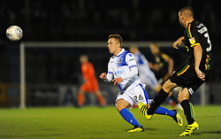 Sam Matthews of Bristol Rovers applies pressure on Carl Dickinson of Yeovil Town- Mandatory by-line: Nizaam Jones/JMP - 09/10/2018 - FOOTBALL - Memorial Stadium - <br /> Bristol, England - Bristol Rovers v Yeovil Town - Checkatrade Trophy