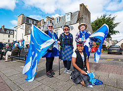 Pictured: All Under One Banner Independence March, Perth,  Scotland, United Kingdom, 07 September 2019. Independence supporters march through Perth in the latest All Under One Banner (AUOB) march of this year.  A group from Dumfries & Galloway who have attended all 7 AUOB marches this year, and also plan to go to the last one next month in Edinburgh.<br /> Sally Anderson | EdinburghElitemedia.co.uk