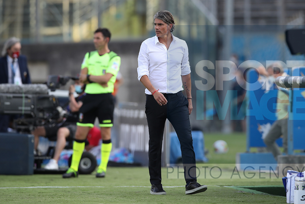 Brescia Calcio's Uruguayan Head coach Diego Lopez pictured on the touchline during the Serie A match at Stadio Mario Rigamonti, Brescia. Picture date: 27th June 2020. Picture credit should read: Jonathan Moscrop/Sportimage