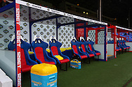 Picture by David Horn/Focus Images Ltd +44 7545 970036<br /> 09/11/2013<br /> General View of Selhurst park showing the team dug outs before the Barclays Premier League match at Selhurst Park, London.