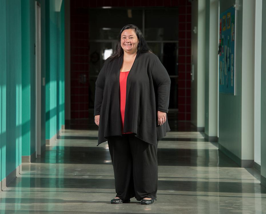 Instructional coordinator Melissa Matsu poses for a photograph at Carnegie Vanguard High School, October 14, 2013.