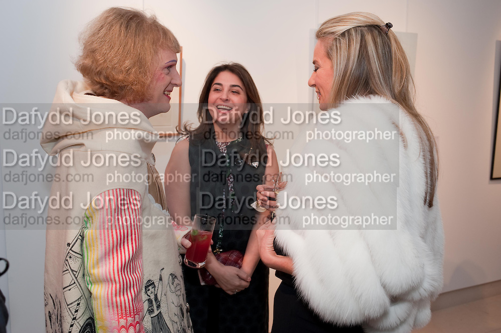GRAYSON PERRY;  MARYAM EISLER; SIOBHAN LOUGHRAN, SANCTUARY: BRITAIN'S ARTISTS AND THEIR STUDIOS -Book launch, Christie's King Street, St James 13 March 2012.