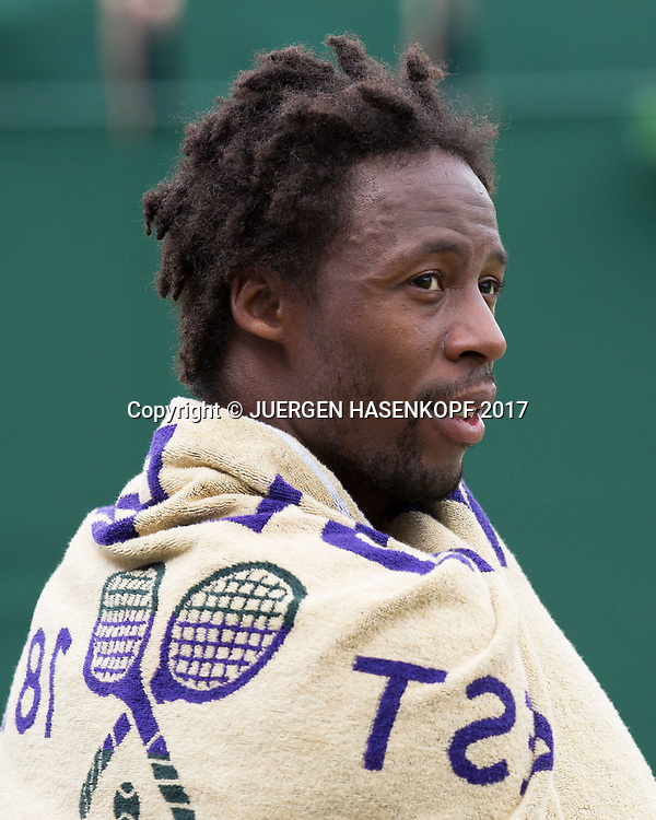 GAEL MONFILS (FRA)<br /> <br /> Tennis - Wimbledon 2016 - Grand Slam ITF / ATP / WTA -  AELTC - London -  - Great Britain  - 4 July 2017.