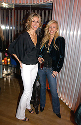 Left to right, designer MELISSA ODABASH and JENNY HALPERN-PRINCE at a party hosted by Elizabeth Saltzman and Harvey Nichols to celebrate the UK launch of New York fashion designer Tory Burch held at the Fifth Floor Restaurant, Harvey Nichols, Knightsbridge, London on 24th May 2006.<br />