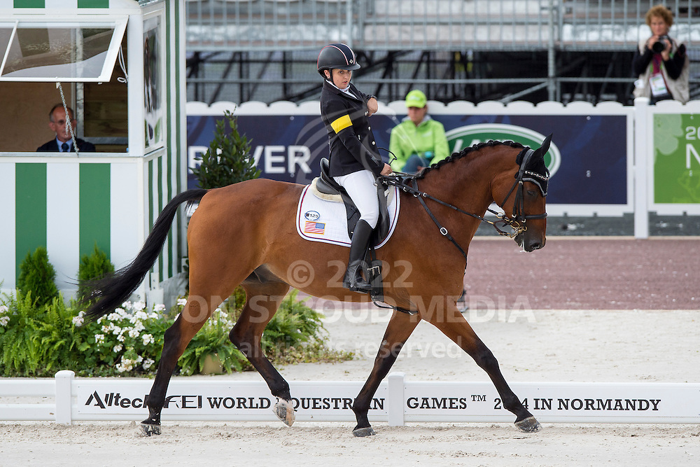 Sydney Collier, (USA), Willi Wesley - Individual Test Grade Ib Para Dressage - Alltech FEI World Equestrian Games&trade; 2014 - Normandy, France.<br /> &copy; Hippo Foto Team - Jon Stroud <br /> 25/06/14