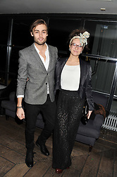 DOUGLAS BOOTH and his sister ABIGAIL BOOTH at the InStyle Best of British Talent Event in association with Lancôme and Avenue 32 held at The Rooftop Restaurant, Shoreditch House, Ebor Street, London E1 on 30th January 2013.