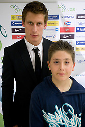 Valter Birsa at official presentation of Slovenian National Football team for World Cup 2010 South Africa, on May 21, 2010 in Congress Center Brdo at Kranj, Slovenia. (Photo by Vid Ponikvar / Sportida)