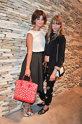 Left to right, PIXIE GELDOF and EDIE CAMPBELL at a party to celebrate the launch of the Vogue Fashion's Night Out held at Mulberry, Bond Street, London on 6th September 2012.