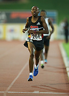 JOHANNESBURG, SOUTH AFRICA - MARCH 22: Gladwin Mzazi in the mens mile during the ASA Speed Series 4 at Germiston Stadium on March 22, 2017 in Johannesburg, South Africa. (Photo by Roger Sedres/ImageSA)