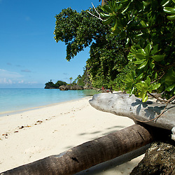 Beautiful white sandy beach.