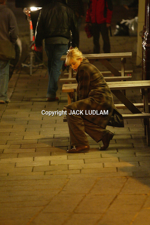 CATE BLANCHETT AND DAME JUDY DENCH ON SET NOTES ON A SCANDAL High Quality Prints please enquire via contact Page. Rights Managed Downloads available for Press and Media