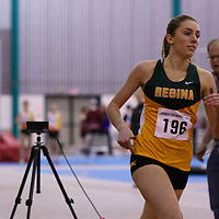 2nd year Cougar Bronwen Malloy in action during the Larmer Friendship Games on December 3 at Regina Field House. Credit Matt Johnson/Arthur Images