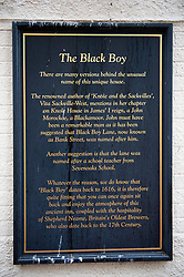 ©Licensed to London News Pictures 30/06/2020     <br /> Sevenoaks, UK. The Black Boy pub in Sevenoaks, Kent which is over 400 years old is to change its name over racism fears to The Restoration. Brewer Shepherd Neame will rebrand the Kent pub.  Photo credit: Grant Falvey/LNP