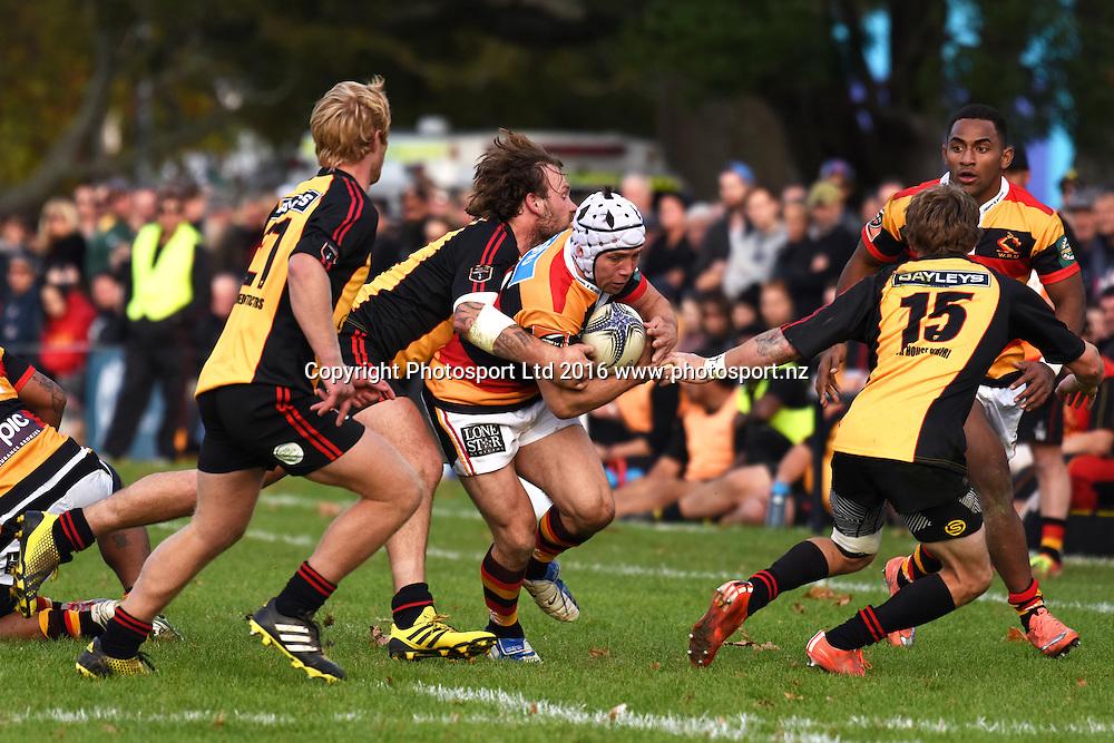 Isaac Boss during the Ranfurly Shield match - Waikato vs Thames Valley at Paeroa Domain, Paeroa, New Zealand on the 6th June 2016. Photo: Jeremy Ward / www.photosport.nz