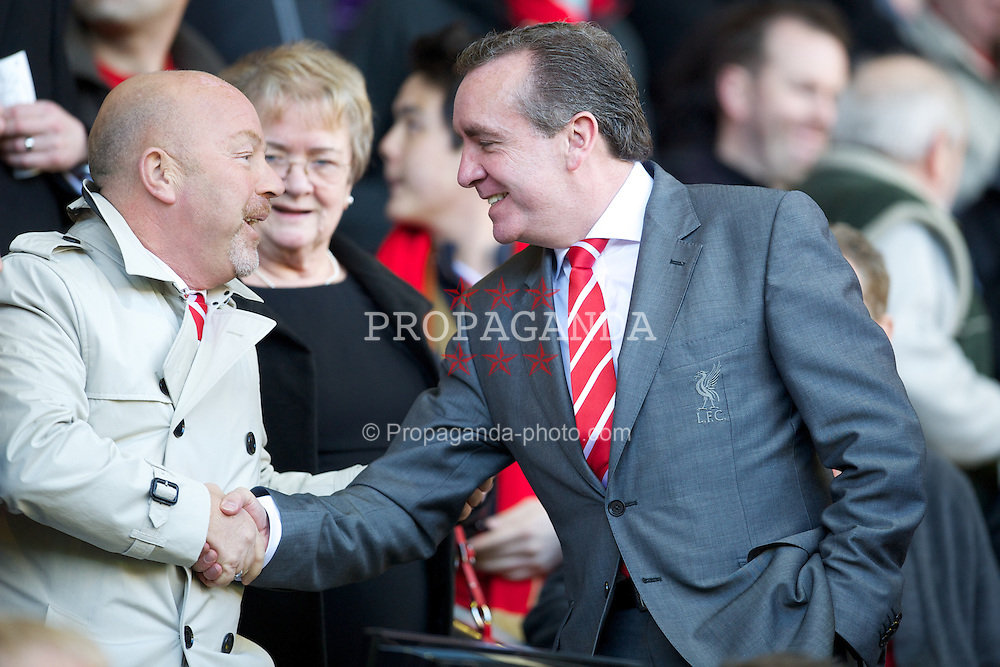 LIVERPOOL, ENGLAND - Sunday March 18, 2012: Liverpool's Managing Director Ian Ayre and Academy Director Frank McParland during the FA Cup Quarter-Final match against Stoke City at Anfield. (Pic by David Rawcliffe/Propaganda)