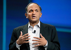 Adobe Chief Executive Officer Shantanu Narayen, addresses the crowd  after RIM announced the new BlackBerry PlayBook tablet will include flash support during  the BlackberryDevCon 2010  in San Francisco.