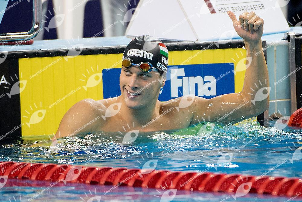 Daniel Gyurta HUN Hungary<br /> 100 breaststroke men<br /> FINA Mastbank Swimming World Cup 2014<br /> Doha, Qatar 2014  Aug.27 th - 28 th<br /> Day2 - Aug. 28<br /> Photo G. Scala/Deepbluemedia