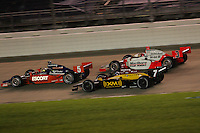 Ryan Briscoe, Bryan Herta, Helio Castroneves, Firestone Indy 200, Nashville Superspeedway, Nashville, TN USA, 7/15/06